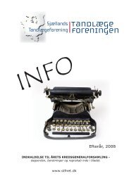 INFO 2 - efterår 2008 - Sjællands Tandlægeforening