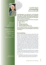 Gunhild Agger • Krimitypologi - Krimi Forskning - Aalborg Universitet