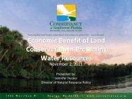 Economic Benefit of Land Conservation in Protecting Water Resources