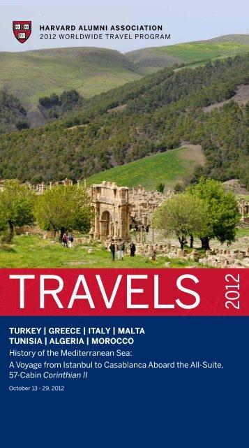tUrKey | greece | italy | Malta tUnisia | algeria ... - Harvard Alumni