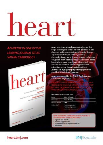 Heart 2013 media rate card - BMJ Group