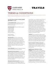 Terms and Conditions - Harvard Alumni - Harvard University