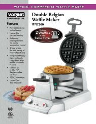 WW200 Heavy-Duty Double Belgian Waffle Maker Spec Sheet