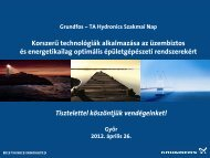 Korszerű technológiák alkalmazása az üzembiztos és ... - Grundfos
