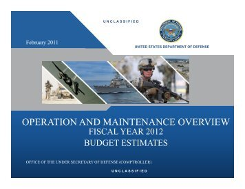 operation and maintenance overview - Office of the Under Secretary ...
