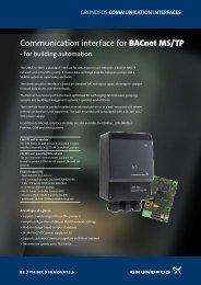 Communication interface for BACnet MS/TP - Energy-efficient ...