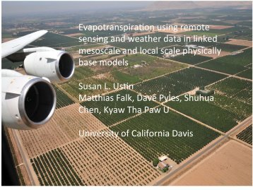 EvapotranspiraZon using remote sensing and weather data in linked ...