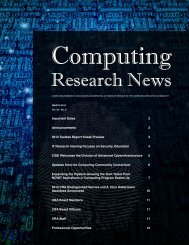 Download PDF Version - 3.4 Mb - Computing Research Association