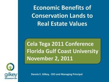 Economic Benefits of Conservation Lands to - Florida Gulf Coast ...
