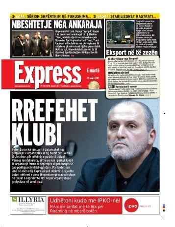 MBESHTETJE NGA ANKARAJA - Gazeta Express