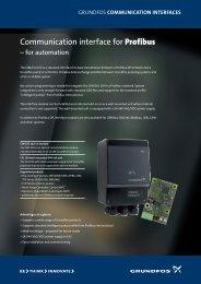 CIM-CIU 150 Profibus DP - Energy-efficient pumps for commercial ...
