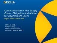Communication in the Supply Chain - ECHA - Europa