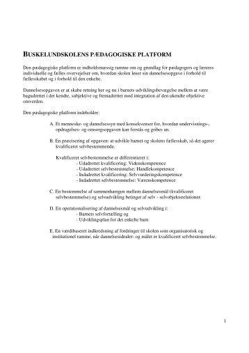 Pædagogisk platform - Buskelundskolen