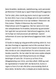 2013-04-16 Formandens beretning ... - Mammen Friskole