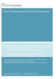Screening for klamydia med hjemmetest - Sundhedsstyrelsen