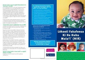 Lėkooti Fakafonua Ki He Huhu Malu'i´ (NIR)