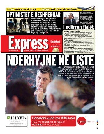 OPTIMISTET E DESHPERUAR - Gazeta Express