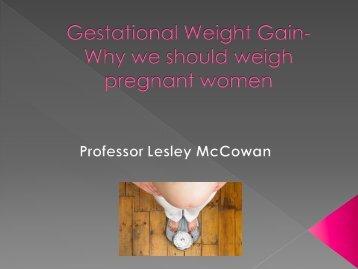 Gestational Weight Gain - National Women's Hospital