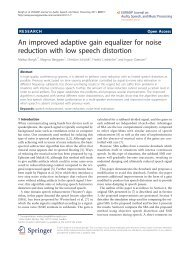 An improved adaptive gain equalizer for noise reduction with low ...