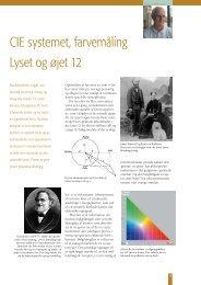 CIE systemet, farvemåling Lyset og øjet 12 - Oftalmolog