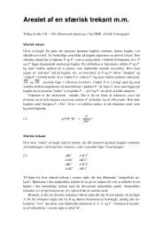 Tillæg til sfærisk geometri - Vestergaards Matematik Sider