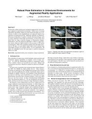 Robust Pose Estimation in Untextured Environments for Augmented ...