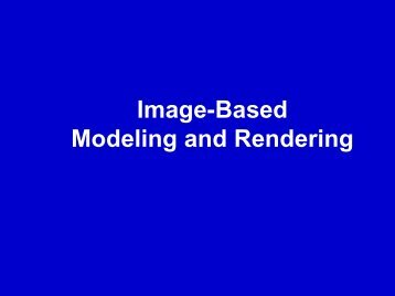 IBR - Computer Graphics and Immersive Technologies (CGIT)
