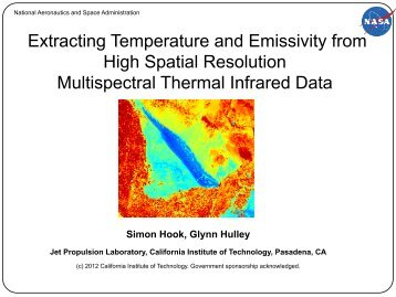 Extracting Temperature and Emissivity from High Spatial ... - NASA