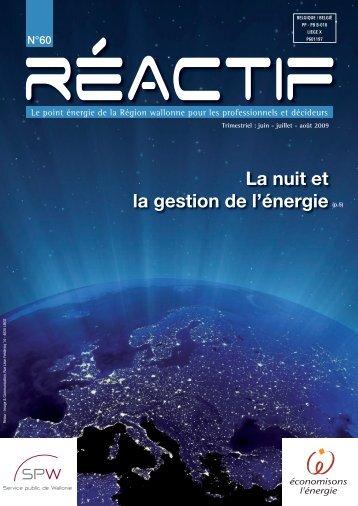REactif 60 - Energie Wallonie