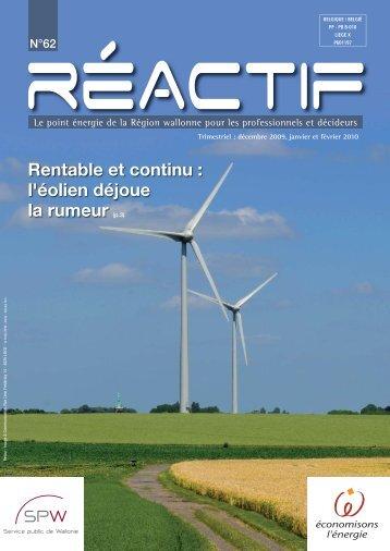 REactif 62 - Energie Wallonie