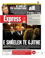 NE KONFLIKT PER GUVERNATORIN - Gazeta Express