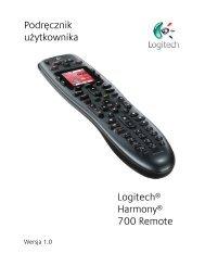 Podręcznik użytkownika Logitech® Harmony® 700 Remote
