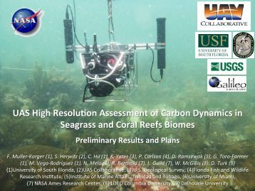 UAS High Resolu on Assessment of Carbon Dynamics in Seagrass ...