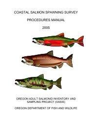 coastal salmon spawning survey procedures manual 2005