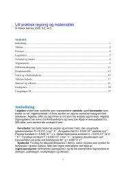 Litt regning og matematikk - Det matematisk-naturvitenskapelige ...