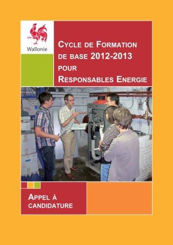Brochure formation RE 2012 - Energie Wallonie