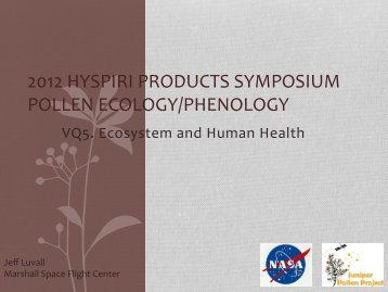 2012 hyspiri products symposium pollen ecology/phenology