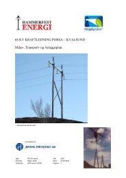 Miljø transport og anleggsplan - Hammerfest Energi