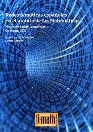 Redes temáticas españolas en el ámbito de las Matemáticas