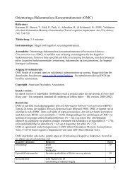 Orienterings-Hukommelses-Koncentrationstest (OMC) - Nationalt ...