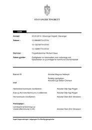 STAVANGER TINGRETT - Advokatfirmaet Lund & Co DA