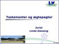 Testamenter og ægtepagter ved jurist Linda Giessing - LandboNord