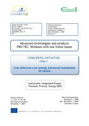 CONCERTO INITIATIVE Advanced technologies and ... - Class 1