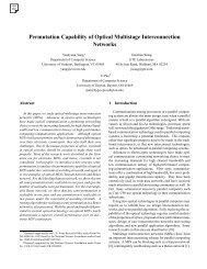 Permutation Capability of Optical Multistage ... - IEEE Xplore