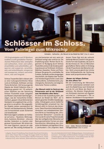 """Artikel """"Schlösser im Schloss"""" - Universalmuseum Joanneum"""