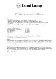 Willkommen bei LumiLamp! - frauhorn.de