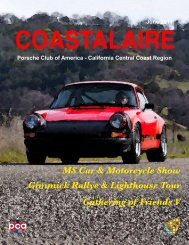 June 2011 - California Central Coast - Porsche Club of America