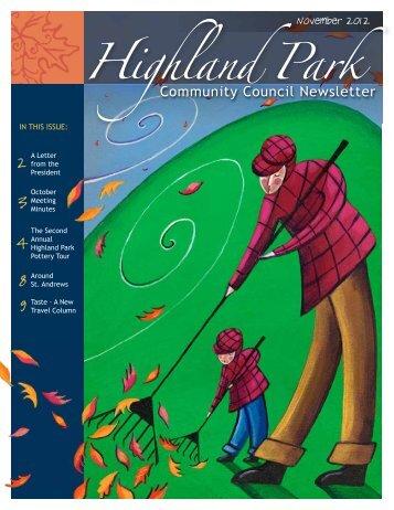 HPCC November 2012 - Highland Park