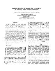 A Parallel Algorithm for Singular Value Decomposition as Applied to ...