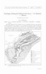 Geologie entlang der Fahrtstrecke Graz - St. Michael - Murau